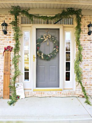 Christmas Porch Decor {and Foyer}