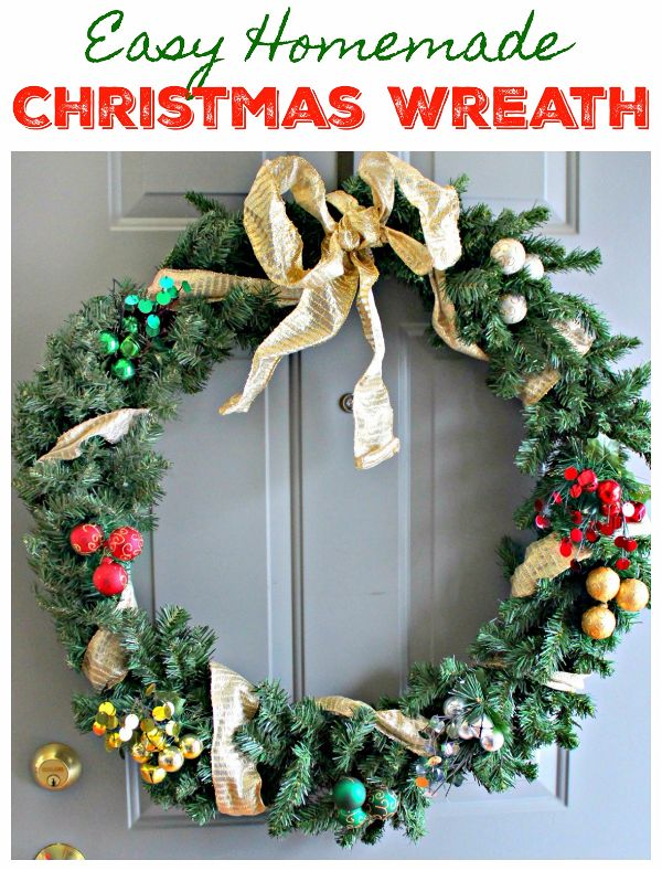 It Isnt Terribly Hard Or Expensive To Decorate A Hand Me Down Christmas Wreath