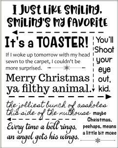 Free Printable of Christmas movie quotes