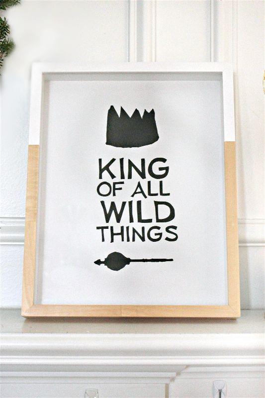 Where the Wild Things Are is a childhood classic, and I had so much fun creating these framed prints for my cousin's first birthday party!