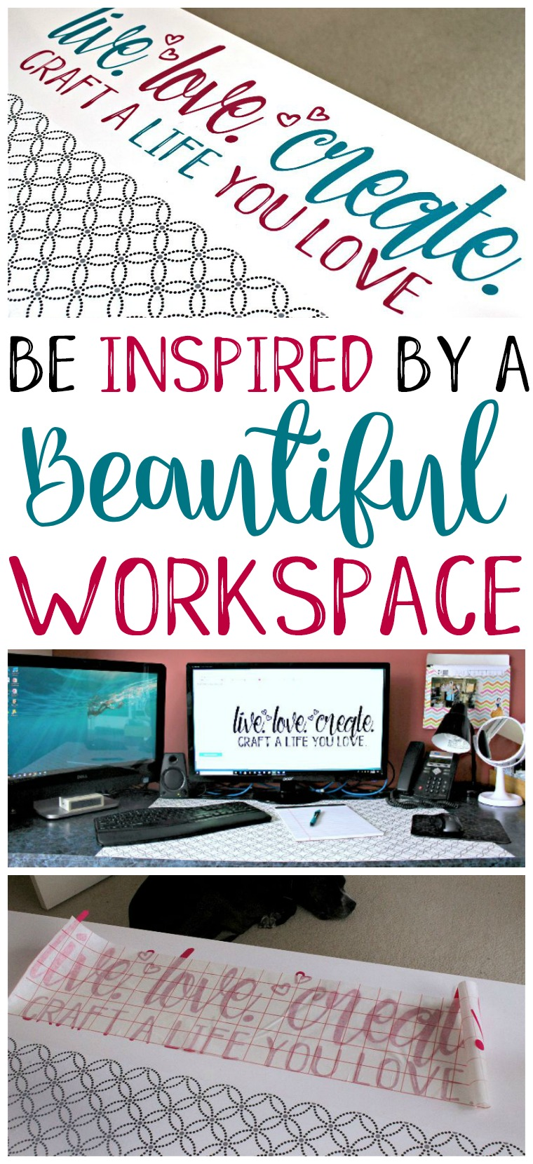 I absolutely love having a dedicated craft room, but even I have a hard time getting inspired in the mess. So I'm thrilled to have been able to create a beautiful workspace for myself as the first part of the #CraftRoomChallenge!!