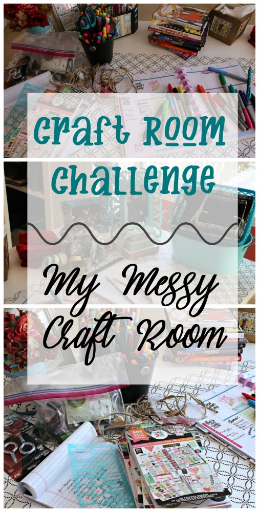 Do you have a messy craft room in need of an overhaul? Join me with this group of bloggers for weekly tips and updates on how we are cleaning up our craft rooms! #craftroomchallenge #confessyourmess