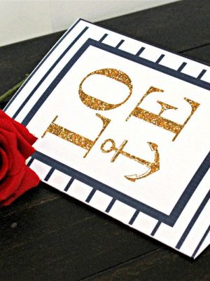 Gold Glittered Nautical Valentine's Day Printable