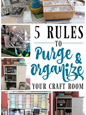 Are you drowning in craft supplies? Do you have an overflowing stash of upcycle projects? Check out my rules to purge and organize your craft room!