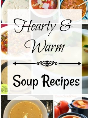 There's nothing I like better in the cold of a Chicago winter than hearty soups to keep me warm!