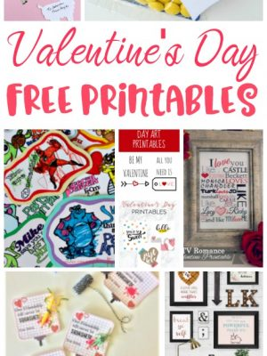 Free Printables for Valentine's Day