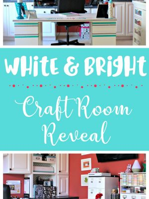 My White & Bright Craft Room Reveal – Craft Room Challenge Week 5