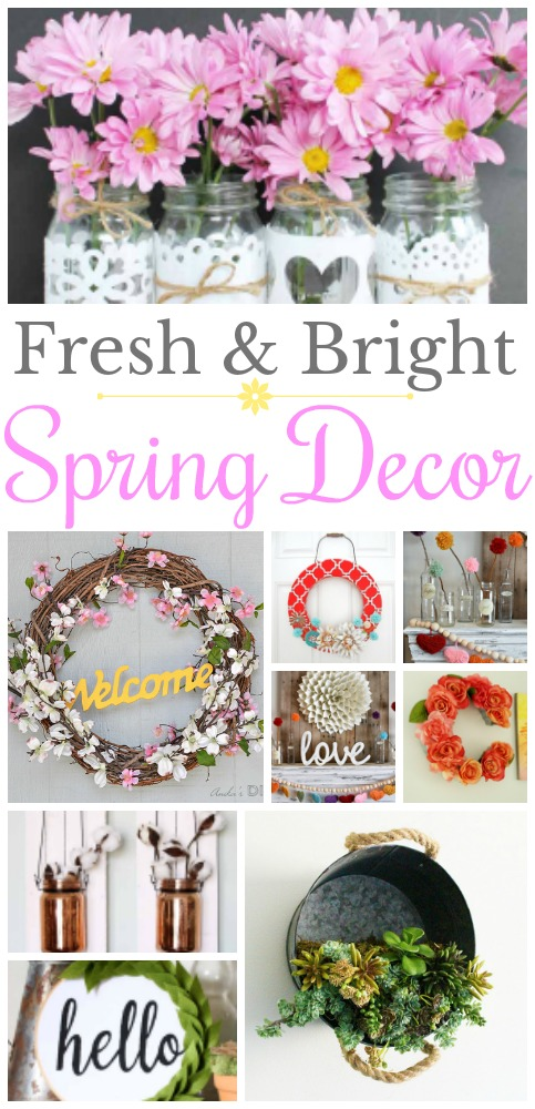 Liven up your space with some fresh and bright spring decor diy ideas.