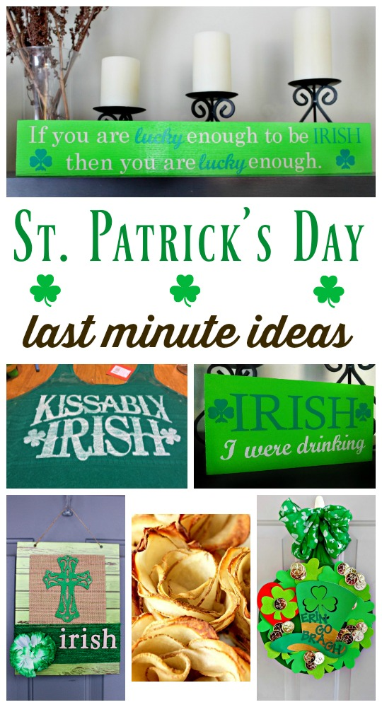 Last Minute St. Patrick's Day ideas
