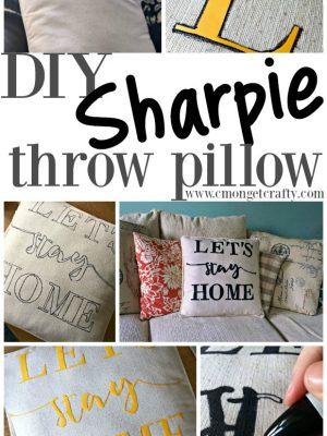 DIY Sharpie Throw Pillow {Pinterest Challenge}
