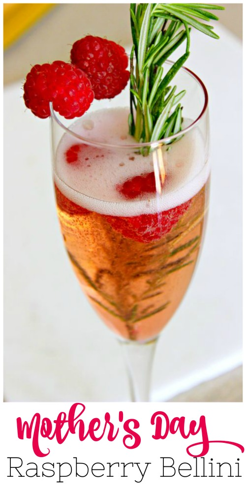 """Make Mama happy this Mother's Day with a delicious pink drink! This Raspberry Bellini is a delicious add to any mother's day brunch. I'm calling it """"The Shelby"""" #mothersday #steelmagnolias #pink #cocktails"""