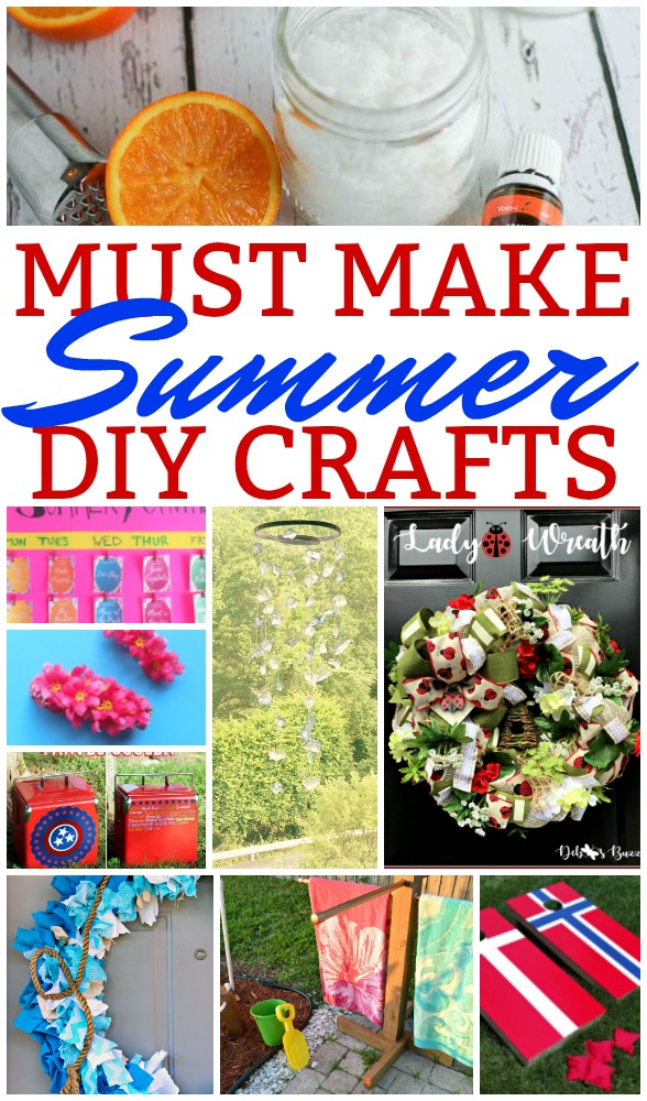 Can we all just be happy summer has shown up?? (This might be pertinent more to the Midwestern readers, ha!) Let's make the best of our short summer season with some amazing MUST MAKE Summer crafts! I was so inspired from last week's party!