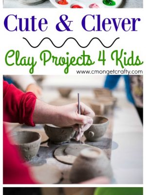 Who says you have to be stuck with crayons and watercolors? Try these cute and clever clay projects with your kids instead! #kids #art #clay #kidprojects #kidart #kidcrafts