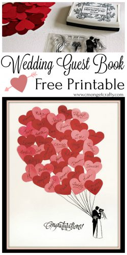 I would have loved to have this pretty wedding guest book printable when I got married! How fun, and so easy to make! #wedding #freeprintable #weddingprintable #weddingguestbook #papercrafting #weddingdiy #diy #diyprintable