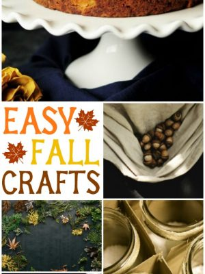 Try these easy fall crafts this autumn to inspire you! #fall #autumn #fallcrafts #cmongetcrafty