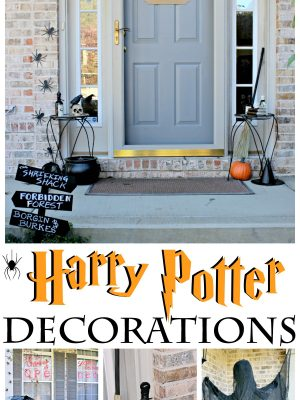 As a total Potterhead, I had the most fun ever turning my Halloween porch decor into a Chamber of Secrets and Dementor themed display! #harrypotter #potterhead #hpdecorations #halloween #harrypotterhalloween #diy #cmongetcrafty