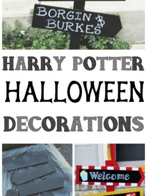 If you are going to destash your craft collection and turn it into creativity, this is the way to do it! I turned one party prop into a Halloween prop! #Halloween #harrypotter #monthlycraftdestash #diy