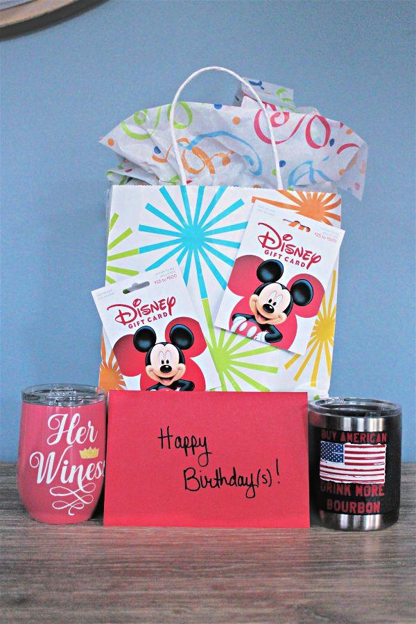 Set of Disney birthday gifts
